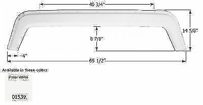 "ICON 01539 Fleetwood 5th Wheel Travel Trailer Fender Skirt 65 1/2"" x 14 5/8"""