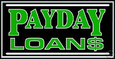 Payday Loans Bright Electric Window Sign