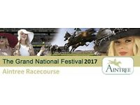 3 REMAINING !! GRAND NATIONAL 2017 TICKETS - QUEEN MOTHER STAND SEATING AREA. 08TH APRIL 2017.