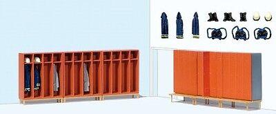 HO Preiser 17708 Fire Station Firemen's / Firefighters Lockers and Accessories - Firefighters Accessories