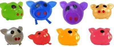SET OF 1 Dozen 12 pcs PIG SPLAT BALL Red Green Blue Purple Silver Gold Pink Toys - Splat Toy