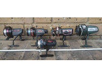 Freshwater 5 Fishing Rods & Reels All In Good Condition