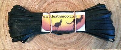 "Kangaroo Lace DARK GREEN Kangaroo Leather Lacing (3.0mm 1/8"" Width) 10 meters for sale  Shipping to Canada"
