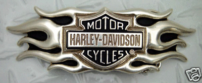 HARLEY DAVIDSON BAR SHIELD FLAME BUCKLE  NEW