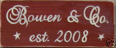 PERSONALIZED Home Sign FAMILY & CO. + YR Custom Design