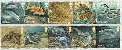 Great Britain 2014  Duurzame visserij - Fish-  Vissen   postfris/mnh
