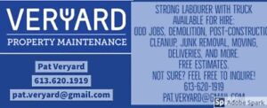 STRONG LABOURER WITH TRUCK AVAILABLE: