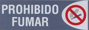 PROHIBIDO-FUMAR-CARTEL-LETRERO-ADHESIVO-18-X-6-CMS-PLACA-ADHESIVA-SENAL