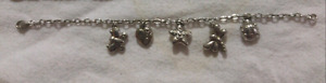 925 silver bracelet with 5 charms