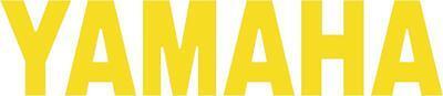 x1 100mm Yamaha Stickers (MOREin EBAY SHOP) Motorbike Decals Yellow