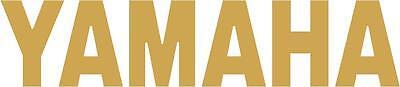 x1 220mm Yamaha Tank Stickers (MOREin EBAY SHOP) Motorbike Decals Gold
