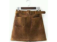 New Ladies Fashion Brown Skirt
