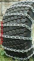 Tire chains for small tractor