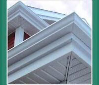 Five seamless evestrough, Soffit and Facia