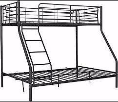 Black metal triple sleeper bunk beds