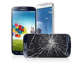 GALAXY S4 GLASS REPAIR $69.99, S3 GLASS REPAIR $59.99, IPHONE 5