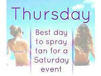 Spray tans only £10