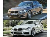 BMW F30 F31 DOORS WHITE AND SILVER FRONT END AIRBAGS