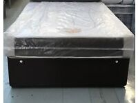Black King Size Bed with Luxury Memory Foam Mattress. Free delivery