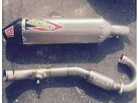 Kxf 250 full exhaust 2006 model