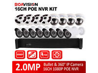 cctv camera system hd/ahd dvr 16 channel with 4tb ahd + 16 ahd 1mp cameras phone app free xmeye