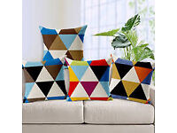 cushion covers various designs silk cotton 3d cover etc £8 a pair