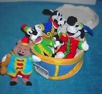 Disney Silly Symphonies Mini Bean Bag Plush Drum~Mickey and Band