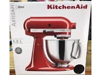 KitchenAid artisan mixer in frosted Pearl 4.8l capacity (limited edition) boxed, used once