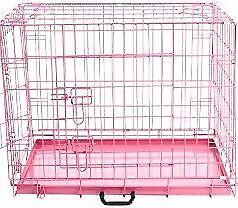 Medium pink dog cage