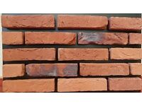 TUDOR BRICK TILES WD457, Red/Black flamed, === Limited Edition===