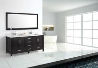 "*ON SALE* Armada 72"" Bathroom Vanity ESPRESSO WITH STONE TOP"