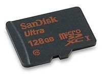128 GB Micro SD by SanDisk ultra.
