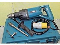 "MAKITA 8406 110v Diamond core drill in case + 1/2"" adapter hand held coring"