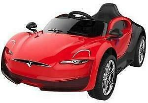 Tesla Kids Ride On Toy Car | Remote Control | 12V Battery, MP3 Player, & Leather Seat  | Free Shipping & Pick up