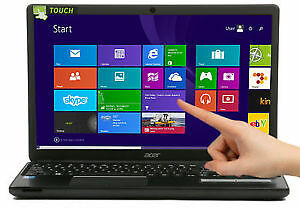 Acer E5 Intel i3-4030U 8gb ram 128gb ssd 16inch touch screen