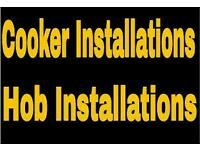 Gas engineer. Cooker installations, Hob installations. Fitting. Gas installer, fitter, plumber