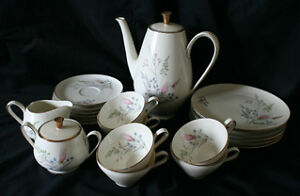 Coffee/Tea Set for 6 - Weismer Pastel Bavaria Germany By Alka