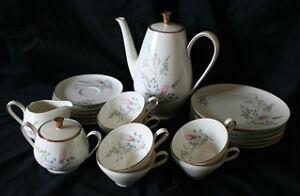Coffee/Tea Set for 6 - Weismer Pastel Bavaria Germany By Alka