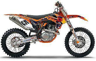 ktm 250 sxf graphics ebay. Black Bedroom Furniture Sets. Home Design Ideas