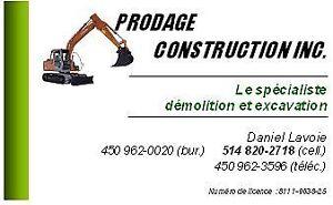 Excavation et Démolition