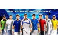 TENNIS TICKETS ADULT+CHILD BARCLAYS ATP WORLD TOUR FINALS THE O2 LONDON 18TH NOV 12PM AND 6PM