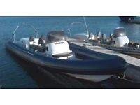 7.5 metre rib boat