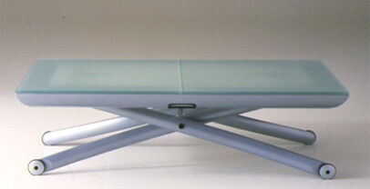 Glass Dining Table Coffee Table Adjustable Height