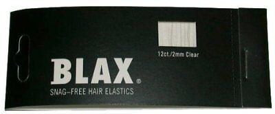 BLAX Clear Snag-Free Hair Elastics - 12ct - 2mm Blax Hair Elastics