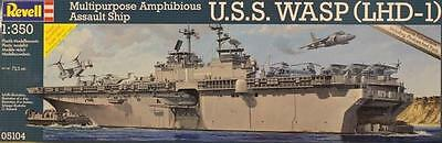 Revell 05104 U.S.S.Wasp LHD-1 Aircraft Carrier 1/350 BRAND