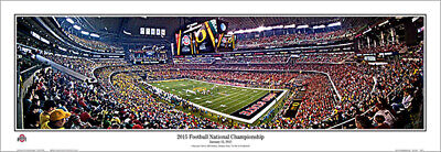 Ohio State Buckeyes 2015 NCAA NATIONAL CHAMPIONSHIP GAME Panoramic POSTER Print Buckeyes Home Game