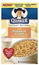 Mix N Match QUAKER INSTANT OATMEAL Hot breakfast Cereal U CHOOSE from 11 FLAVORS