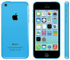 APPLE iPhone 5C 8GB BLUE FACTORY UNLOCKED 6 MONTHS WARRANTY GOOD CONDITION LAPTOP/PC USB LEAD