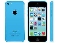 APPLE iPhone 5C 8GB BLUE UNLOCKED 6 MTHS WARRANTY GOOD CONDITION BOXED LAPTOP/PC USB LEAD HARD CASE