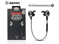REMAX S2 Unique Magnet Headphone Wireless Bluetooth earphones